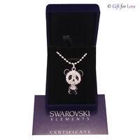 Collana donna argento Swarovski Elements originale G4Love cristalli strass panda
