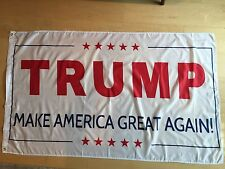 White Trump 3x5 Foot Flag 2016 Make America Great Again Donald for President USA