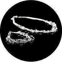Designer Kette Statement Halskette Outfit Partykette-Armband-Set O2887