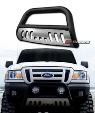 MATTE BLACK STEEL BULL BAR BUMPER GRILLE GUARD+SS SKID 1998-2011 FORD RANGER