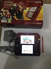 Nintendo Red 2DS Special Edition (with Pokemon Omega Ruby) - CHARGER INCLUDED