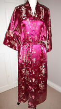 Stunning Laogudai heavyweight Chinese satin & silk night gown dress Size XXL