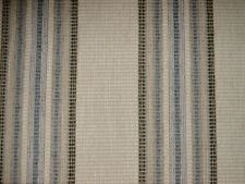 Crossing Paths Prussian Blue Cream Textured Stripe Upholstery Waverly Fabric