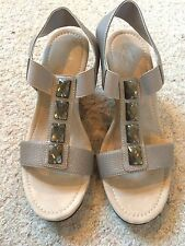 NEW St. John's Bay Sz 8 1/2 M LANA Wedge Sandals Jeweled New in the Box
