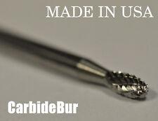 """New listing New 1/8"""" Oval Shape Solid Carbide Bur Tool Bit for Die Grinder Se-41 Dbl"""