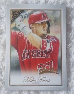 MIKE TROUT 2019 TOPPS GALLERY ARTIST PROOF #105 ANGELS