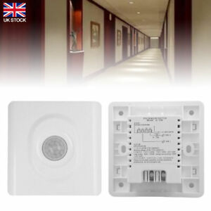 Automatic Infrared PIR Motion Sensor Body Switch LED Night Lighting Wall Mounted