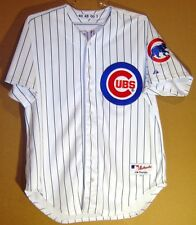 CHICAGO CUBS HENRY RODRIGUEZ White Pinstripe #40 GAME WORN Size 48 MLB JERSEY