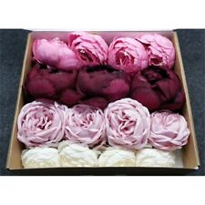 Ling's Moment Delicate Marsala Artificial Peony Flower Box Wedding Decor Set