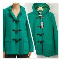 [ SUSSAN ] Womens Green Duffle Hooded Jacket / Coat | NEW Size AU 14 or US 10