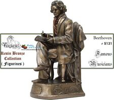 Beethoven Statue, Composing w/ Score, Bronzed Figurine, Veronese Collection 5131