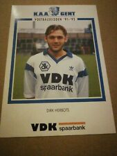 Carte Postale KAA Gent Dirk Herbots