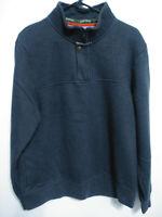 Orvis Mens Size Medium Gray 1/4 Zip Sweatshirt