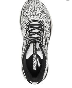 Brooks Adrenaline GTS 20 Running Shoe, Size: 8, Black and White