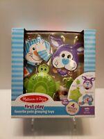 NEW Melissa & Doug First Play Favorite Pets Grasping Toys Developmental 12+ NIB
