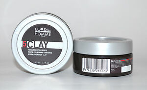 2x 50ml Loreal HOMME Clay