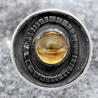 Natural Citrine Cab 925 Sterling Silver Ring s.9.5 Jewelry E179