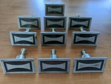 VTG Set Of 10 Midcentury Modern Black Steel Knobs Pulls Retro Hourglass MCM JB
