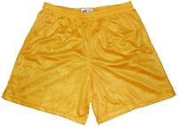 Gold Nylon Mini Mesh Shorts by Soffe - Men's XL