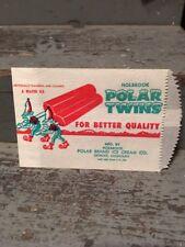 Unused Holbrook Polar Twins Popsicle Type Wrapper / Bag Detroit, Michigan