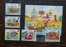 Grenada 1985 Disney Grimm Brothers set & Miniature Sheet Used
