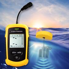 100M Portable Sonar Sensor Fish Finder Fishfinder Ultrasonic Echo Sounder w/Led