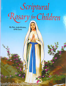 Scriptural Rosary For Children Paper Back Book  32 Pages Religious  526