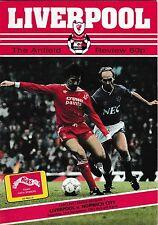 Football Programme>LIVERPOOL v NORWICH CITY Nov 1987