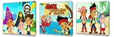 Jake & the Neverland Pirates set of Three Wall / Plaques canvas pictures