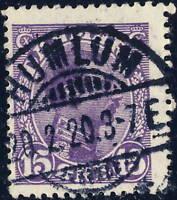 "DENMARK 1920 "" HUMLUM "" CDS on Mi.69a 15ö Lilac"