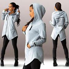 Damen Winterjacke Kapuzenpullover Sweatshirt Mantel Parka Blazer Sports S-6XL