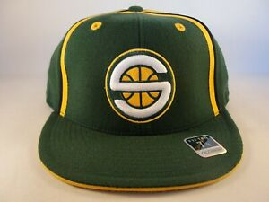 Seattle Supersonics NBA Reebok Fitted Hat Cap Size 7 1/4 Green