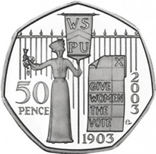 Very Rare 50p Fifty Pence Suffragette 2nd rarest coin after kew garden SALE