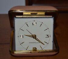 Vintage Westclox Travel Alarm Clock, Wind up, Brown Case, Working!