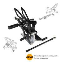 CNC Rear Sets Foot Pegs Rearset Pedal Set For Yamaha YZF-R6 YZFR6 06-2016 Black