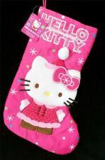 Christmas Stocking Sanrio Hello Kitty Dots Snowflake Kitten Kitty NEW Pink White