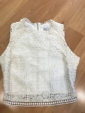 Abercrombie & Fitch ivory lace top, XS