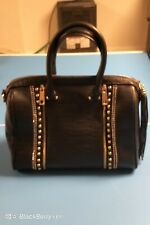Authentic Bebe Black studded, jeweled, tassle Satchel,Handbag,Purse, Large Tote.