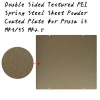 Textured PEI Spring Steel Sheet Powder Coated Plate for Prusa i3 MK3/3S MK2.5