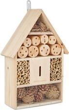 Andrew James Bee Insect House Bug Hotel Natural Wood Shelter Garden Nest Box