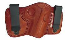 TAGUA Dual Clip Left Handed Brown Leather Holster Springfield XD Compact DCH-643