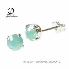 Stud with Swarovski Elements Colour: Pacific Opal, Green