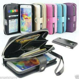 Samsung Galaxy S20 FE S10 S10e 5G S8 S9 Plus Magnet Leather Zip purse Case Cover