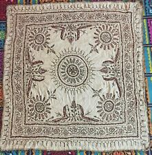 ANTIQUE OTTOMAN SILVER  THREAD WORK HAND EMBROIDERY 19TH-CENTURY