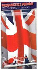 Magnetic Union Jack Shopping List Pad Pen Memo UK GB Flag British Souvenir Gift