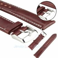 New Genuine Leather Watch Strap Band  Stainless Steel Buckle Width 18/20/22/24mm