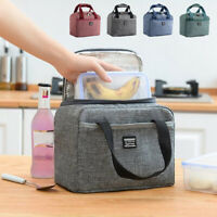Adult Kids Thermal Insulated Lunch Bag Cool Bag Picnic Food Storage Lunch Box