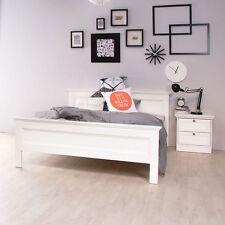 Jugenbett SANDRO 140x200 Gästebett Bettgestell Bett weiß Schlafbett Kinderbett