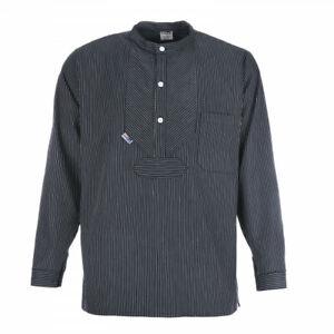 Fischerhemd BasicLine Finkenwerder-Stil mit schmalen Streifen blau/weiss