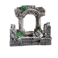Aquarium Roman Ruins Decorations Fish Tank Ornament Resin Decor for Aquascaping